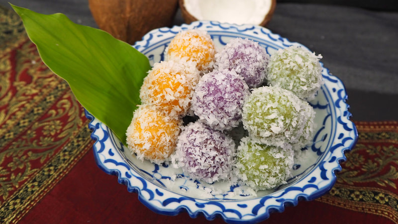 Thai Coconut Balls Recipe | Khanom Tom | ขนมต้ม